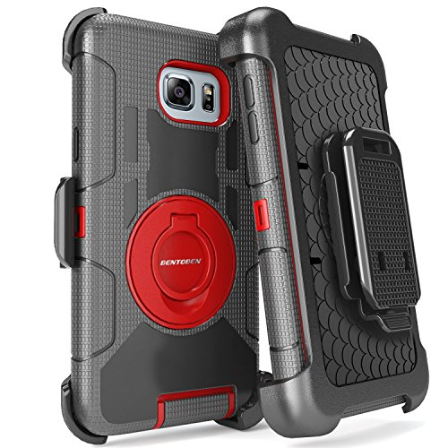 Note 5 Case, Galaxy Note 5 Case, BENTOBEN Samsung Galaxy Note 5 Case Shockproof Heavy Duty Hybrid Full Body Rugged Holster Protective Case for Samsung Galaxy Note 5 With Kickstand + Belt Clip(Red)
