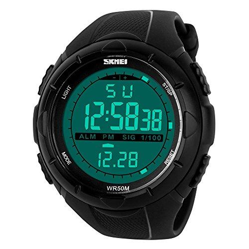 Skmei Digital Black Dial Men's & Boy's Watch(Skm-1025-Black-