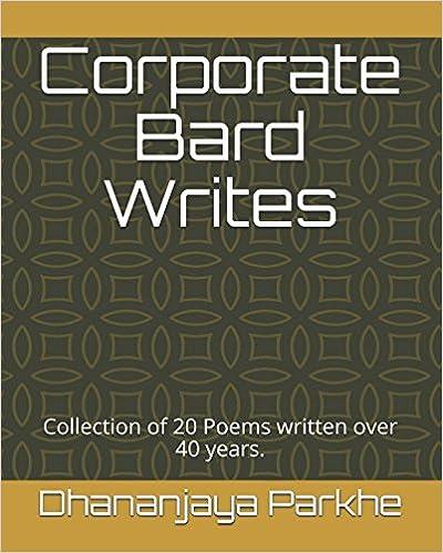 9fd97c512e31 Amazon.com  Corporate Bard Writes  Collection of 20 Poems written ...