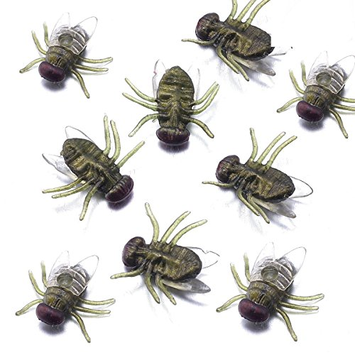 Fake Fly Toys Verisimilar Magic Plastic Bugs HALLOWEEN PROP for Prank Green (Scary Halloween Office Pranks)