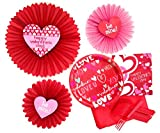 Happy Valentine's Party Supply Pack for 16