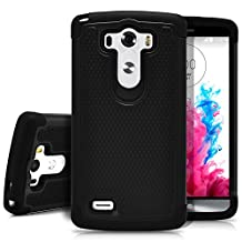 LG G3 Case, MagicMobile [Dual Armor Series] Rugged Durable [Impact Shockproof Resistant] Double Layer Cover [Hard Shell] & [Flexible Silicone] Case for LG G3 Case - Black / Black
