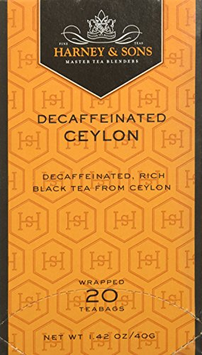 - Harney and Sons Decaf Ceylon, Decaf Black 20 Teabags per Box