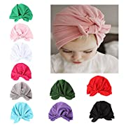10 Pieces Adorable Baby Knot Headbands Newborn Elastic Sretch Head Wrap Baby Hat