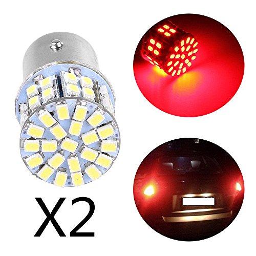 Aranher(TM) 2pc Red Light 1157 BAY15D 50 SMD 1206 LED Car Tail Stop Brake Lamp Bulb 3W 12V
