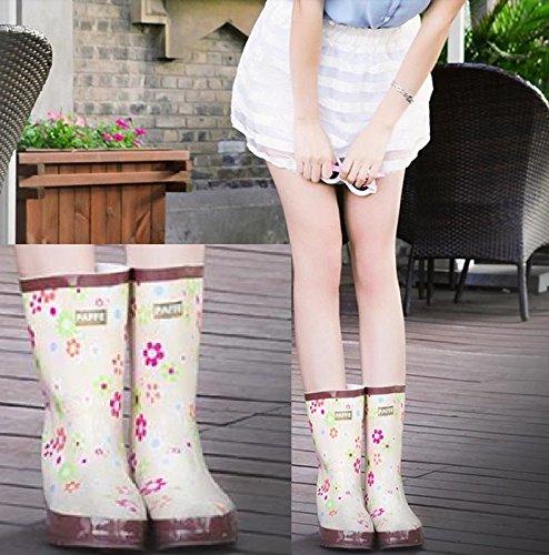 レインブーツ長靴レディース女の子花柄防水で雨の日にかわいいおしゃれLJ201(24.5㎝)