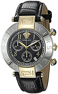 Versace Women's Q5C79D009 S009 New Reve Analog Display Quartz Black Watch
