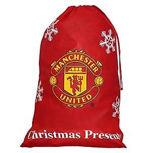 Manchester United Jumbo Christmas Stocking Present Sack: Amazon.co ...