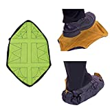 IIHOME Hands-Free Step Sock Shoe Covers,Waterproof and Non-slip Shoe Covers, Automatic Shoe Covers Reusable Portable for Indoors Durable Portable - Synthetic Leather Bottom -1 Pair (green)
