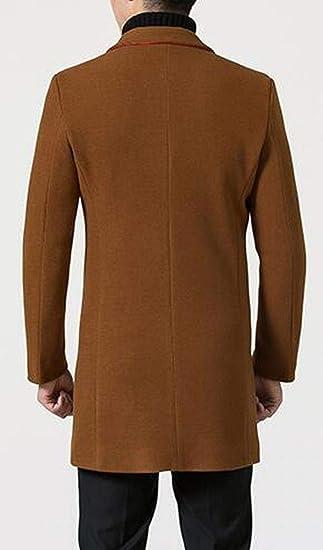 MMCP Mens Longline Plain Warm Slim Fit Trench Pea Coat Jacket Overcoat