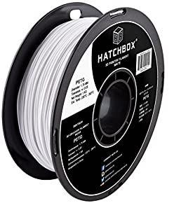 HATCHBOX PETG 3D Printer Filament, Dimensional Accuracy +/- 0.03 mm, 1 kg Spool, 1.75 mm, White from HATCHBOX