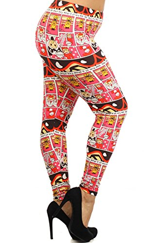 ALWAYS Baby Comic Club Printed Leggings - Stretch One Size - Plus Size - 14-18
