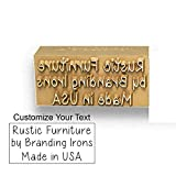 Custom Branding Iron with Personalized Text