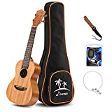Donner Tenor Ukulele Mahogany Body DUT-1 26 inch Ukulele Kit with Tuner Strap String Case