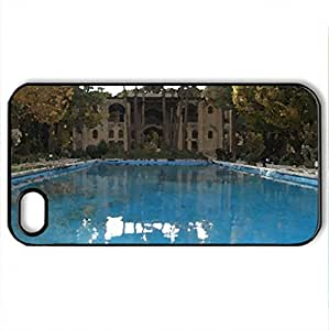 8Behesht Palace - Case Cover for iPhone 4 and 4s (Ancient Series, Watercolor style, Black)