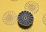 Blockwallah Rangoli Flower Wooden Block Stamp
