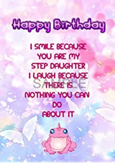 Step Daughter Funny Special A5 Birthday Greetings Card