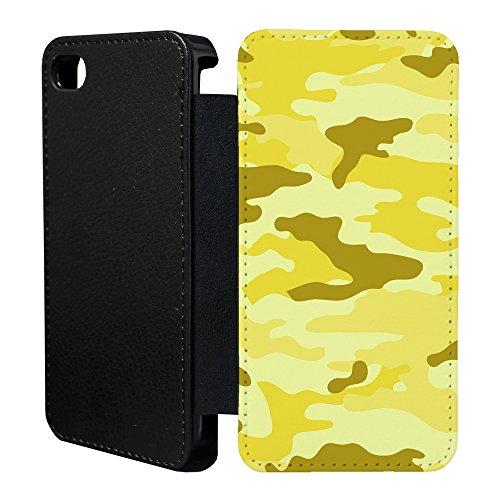 Armee Tarnmuster Tarnmuster Flip Tasche Geldbörse für Apple iPhone 6 - 6S - Wüste Gelb - G1262 SjKVKezUFx