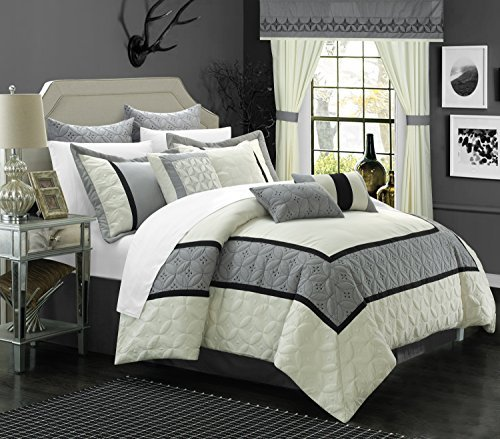 Chic Home 24 Piece Aida Bed in a Bag Comforter Set, Queen, W