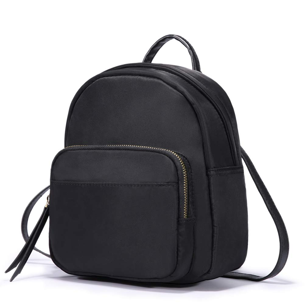 HaloVa Backpack, Women's Shoulders Bag, Mini Multifunction Daypack Satchel Crossbody Bag for Girls Lady, Trendy and Concise, Black