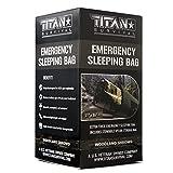 Titan Emergency Sleeping Bag/Thermal Bivy | Woodland CAMO | PE