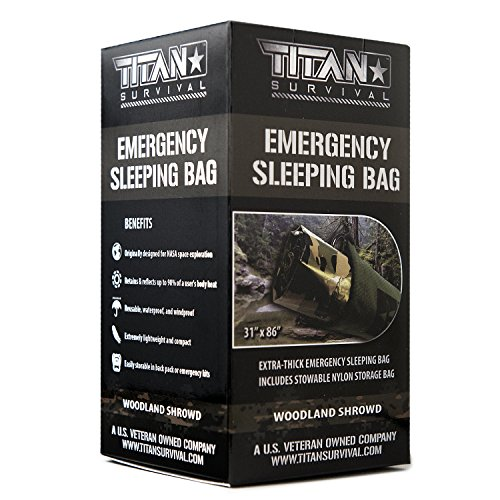 Titan Emergency Sleeping Bag/Thermal Bivy | Woodland CAMO | PE