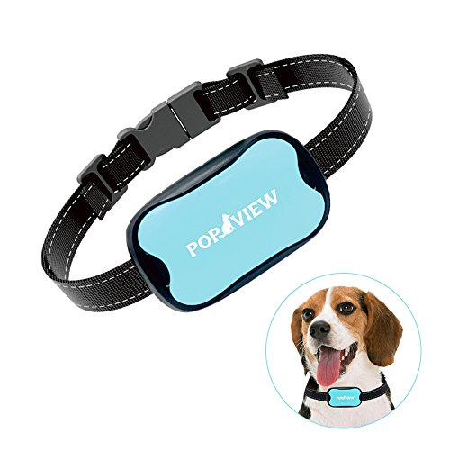 POP VIEW Dog Anti Bark Collar, Small, Medium, Large Dogs, 7 Adjustable Levels with sound and vibration, No Shock, Harmless & Humane, Stops Dogs Barking, Additional Spare (Bark Collar)