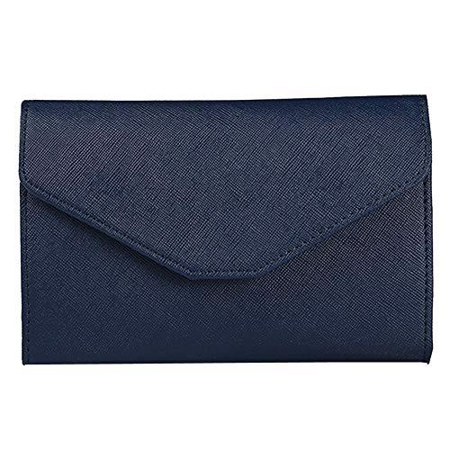 ❤️MChoice❤️Neutral Multi-Purpose Travel Passport Wallet Tri-fold Document Organizer Holder (Dark Blue)
