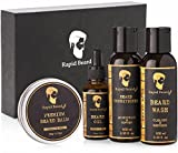 Beard Grooming kit for Men Care - Unscented Beard Oil, Beard Shampoo Wash