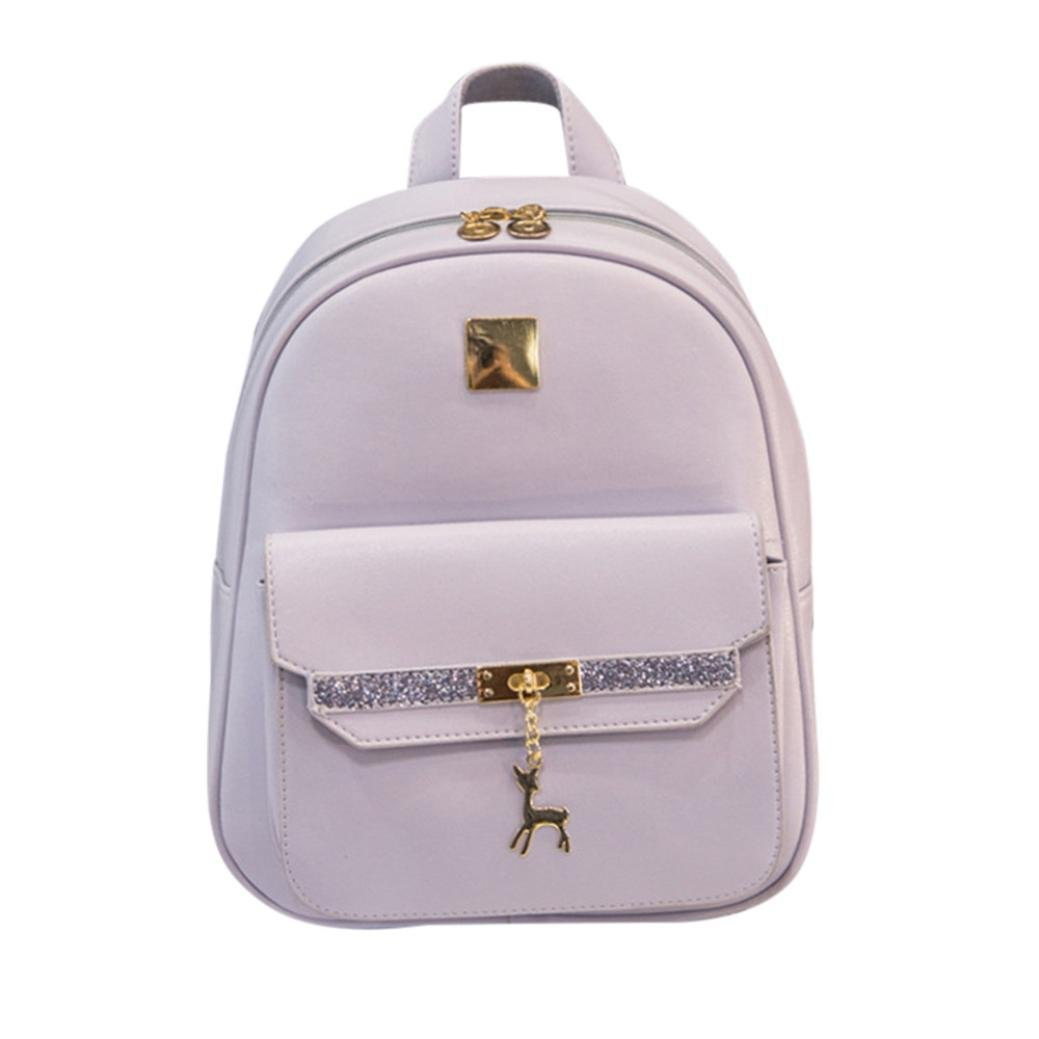 Transer Women Girls Cute PU Leather Travel Backpack / Bookbag / Rucksack / School Bag
