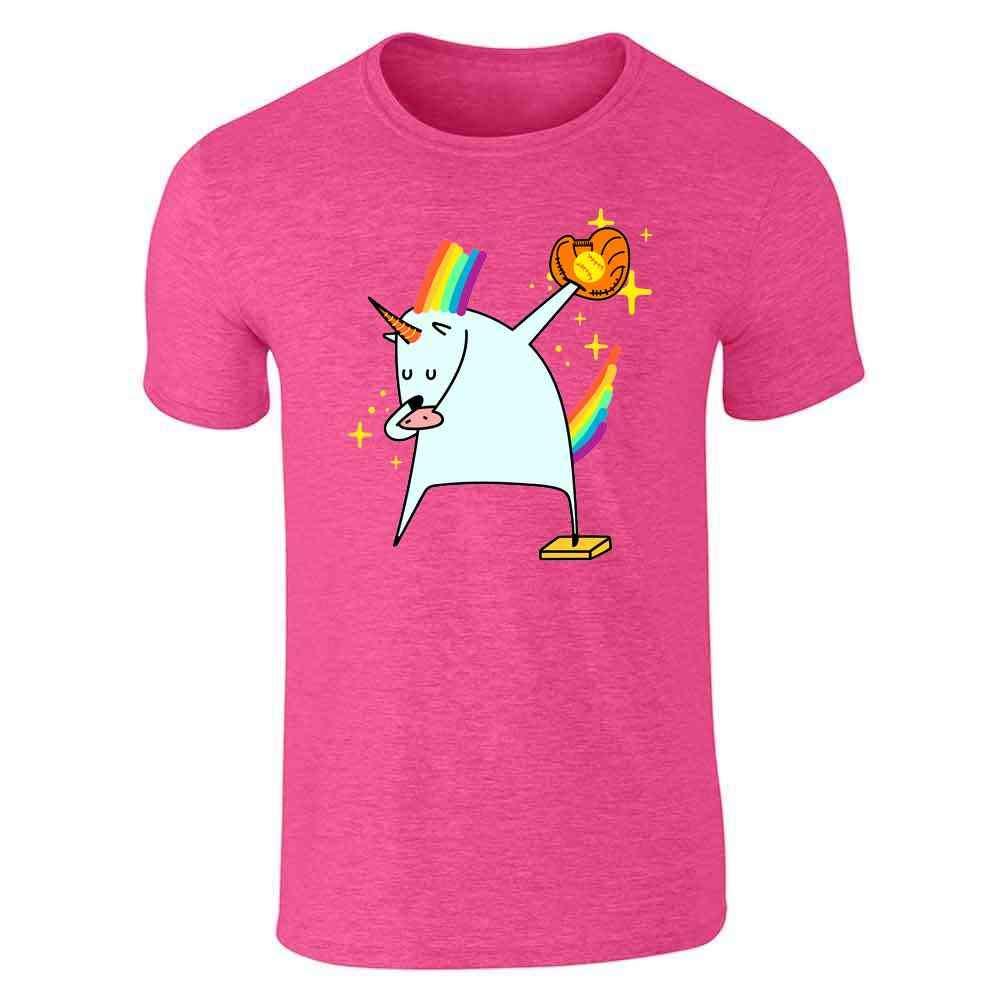 Dabbing Unicorn Softball Shirt Short Sleeve T-Shirt