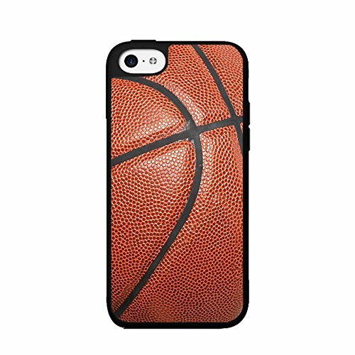 Bright Orange Detailed Basketball Plastic Phone Case Back Cover iPhone 5c