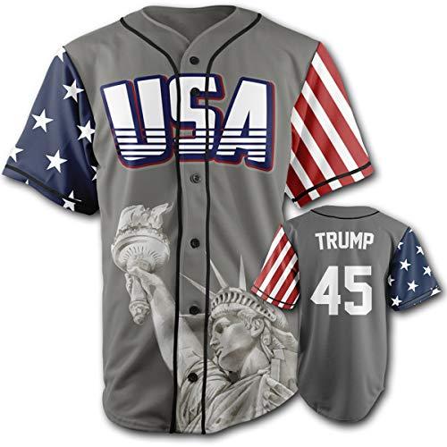 - USA Grey Trump #45 3XL