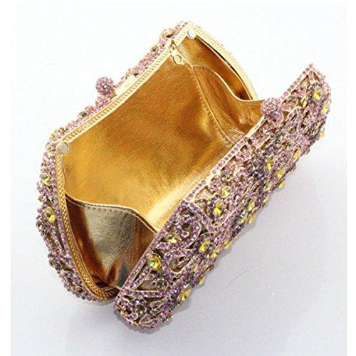 Pour Fashion De Sac Sac Diamant à Party Soirée Main Purple Femme qfxSPTw