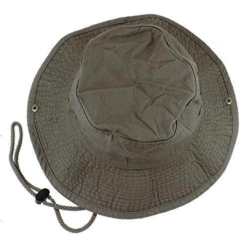 Gelante 100% Cotton Stone-Washed Safari Booney Sun Hats ()