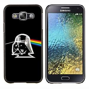 LECELL--Funda protectora / Cubierta / Piel For Samsung Galaxy E5 E500 -- Álbum Rosa Trooper Negro Sci Fi --