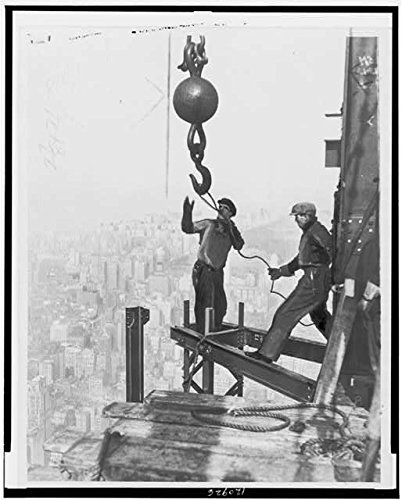 HistoricalFindings Photo: Iron Workers Straddle Steel Girders,Empire State Building,1931, York