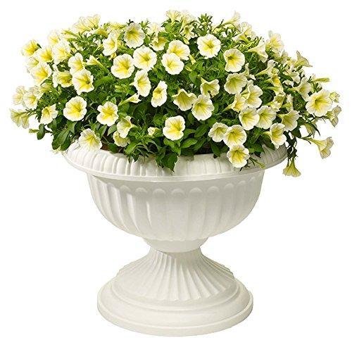 Novelty Grecian Urn Planter, White, 18-Inch