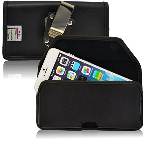 TURTLEBACK Belt Case for Apple iPhone 6S and iPhone 6 Black Holster Leather...