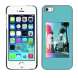 [Neutron-Star] Snap-on Series Teléfono Carcasa Funda Case Caso para iPhone 5 / 5S [Los Angeles California Hollywood]