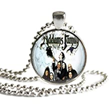 The Addams Family 90s Movie Poster 1 inch Silver Plated Picture Pendant 24 inch Necklace