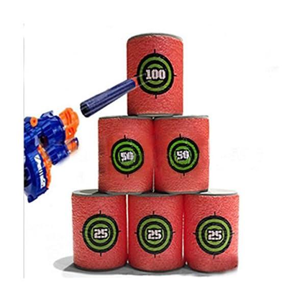 RISHIL WORLD 6PCS EVA Soft Bullet Target Gun Shoot Dart for Nerf N-Strike Elite Blaster Kid Toy