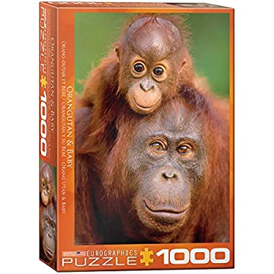 EuroGraphics Orangutan and Baby Jigsaw Puzzle (1000-Piece): Toys & Games