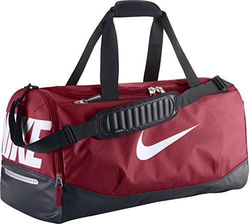 Nike Team Training Max Air Medium Duffel Bag Gym Red/Blac...