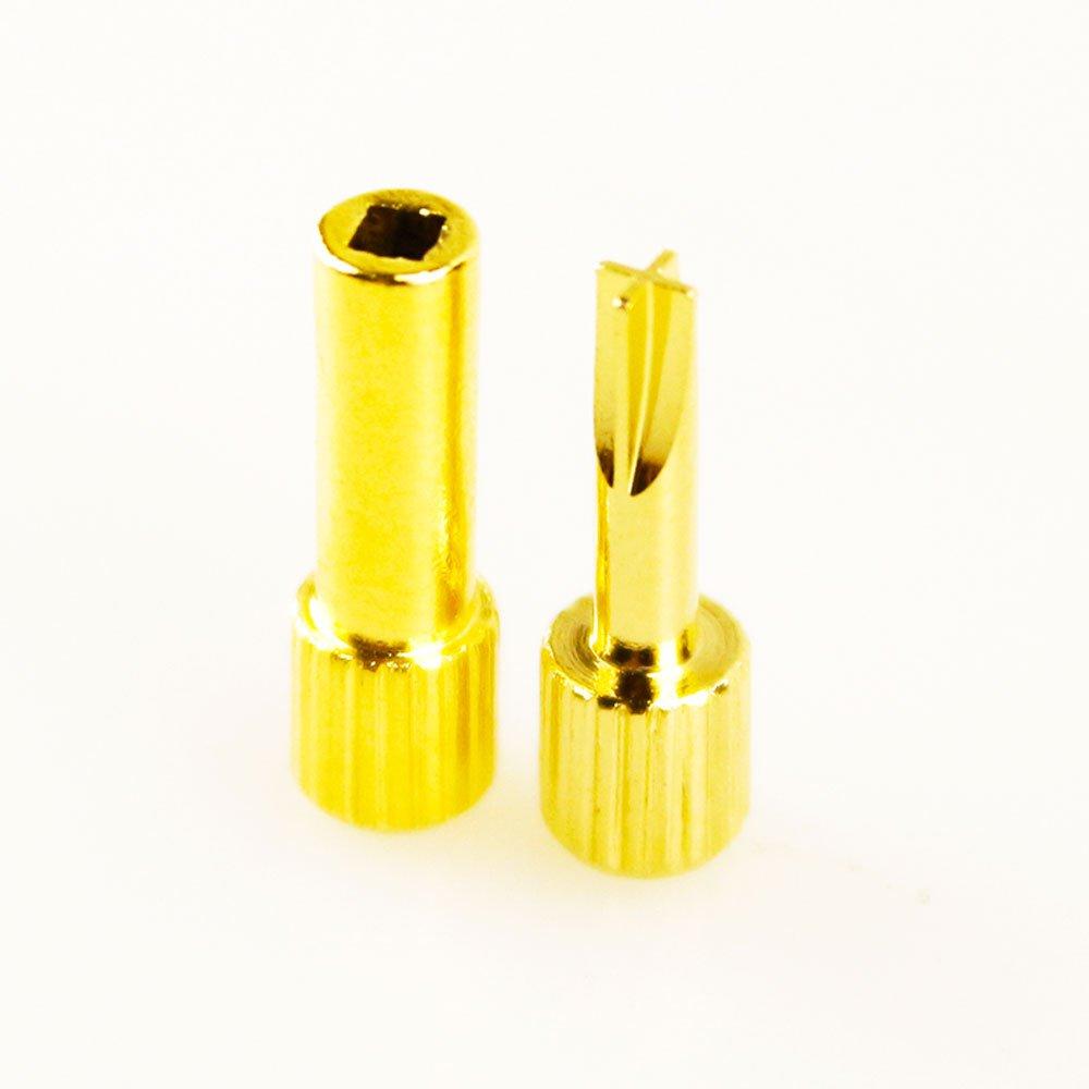 Melleco Dental Screw Posts Key Wrench Set of 2 Keys - 1 Hollow NLH Key & 1 Cross NLK Key