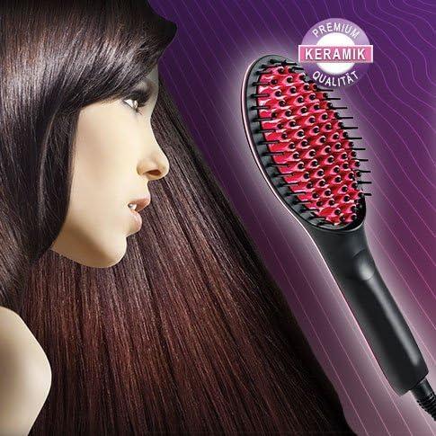 Simply Straight: Céramique Brosse lissante brosse à cheveux Lisseur à cheveux