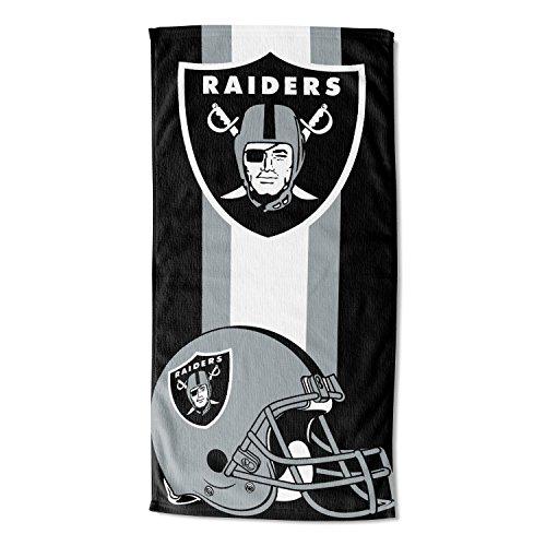 The Northwest Company NFL Oakland Raiders 30x60 Beach TOWEL30X60 Beach Towel, Black, One Size ()