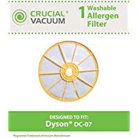 Crucial Vacuum Dyson DC-07 Washable & Reusable Pre-Filter, Replaces Dyson DC07 Pre-Motor Filter Part # 904979-02 (90497902); Designed & Engineered