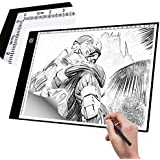 A4 Light Box Tracer with Scale | Ultra-thin USB Powered Portable Dimmable Brightness LED Artcraft Tracing Light Pad | Light Box for Artists Drawing Sketching Animation Designing Stencilling X-ray View