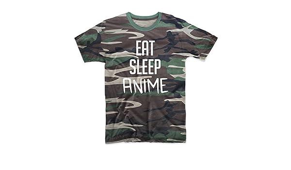 Teequote Eat Sleep Anime Agenda Gracioso Cool Camuflaje ...